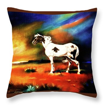Sunset On The Plains Throw Pillow