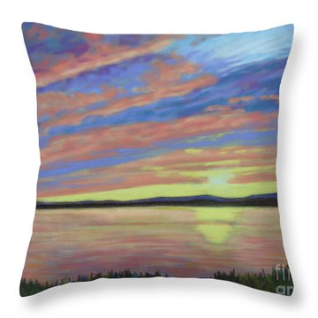 Sunset On The South Shore  Throw Pillow