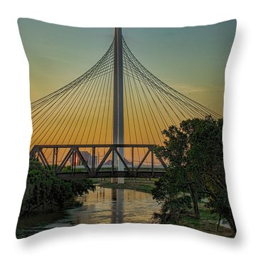 Sunset On The Trinity Throw Pillow