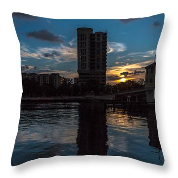 Sunset On The Water Throw Pillow