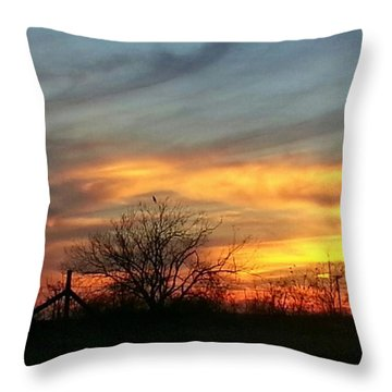 Sunset On The Way Home. #photooftheday Throw Pillow by Sean Wray
