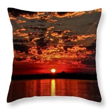 Sunset On The Zambezi Throw Pillow