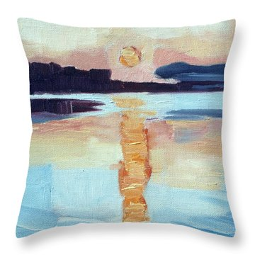 Sunset On Vancouver Island Throw Pillow