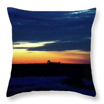 Sunset On Winter Solstice Eve Throw Pillow