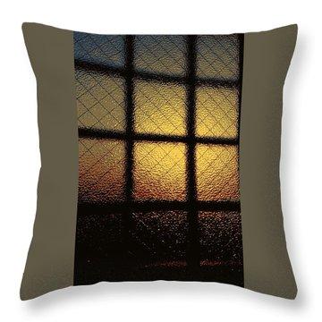 Sunset Orange Throw Pillow