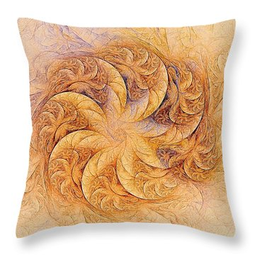 Sunset Orchids Throw Pillow
