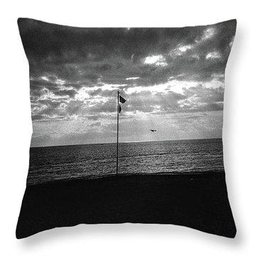 Sunset Ostia Beach Throw Pillow