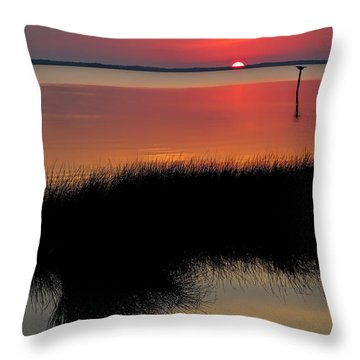 Sunset Outer Banks Obx Throw Pillow