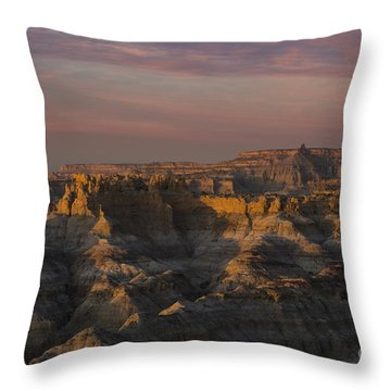 Sunset Over Angel Peak Throw Pillow