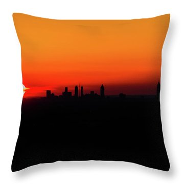 Sunset Over Atlanta Throw Pillow