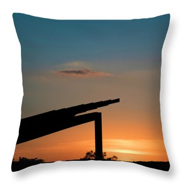 Sunset Over Austin City Limits Festival Week One 2017 Throw Pillow