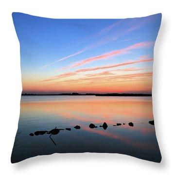 Sunset Over Back Bay National Wildlife Refuge Throw Pillow