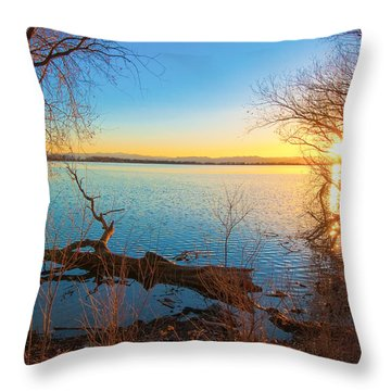 Sunset Over Barr Lake Throw Pillow