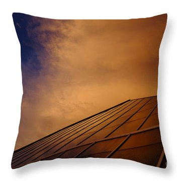 Sunset Over Bass Pro Shop In Memphis Tennessee Throw Pillow