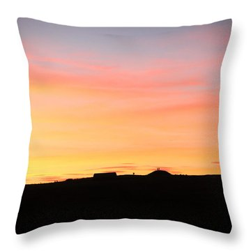 Sunset Over Cairnpapple Throw Pillow by RKAB Works