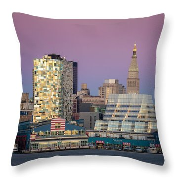 Sunset Over Chelsea Throw Pillow by Eduard Moldoveanu