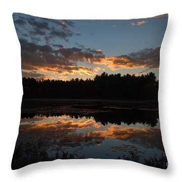 Sunset Over Cranberry Bogs Throw Pillow by Kenny Glotfelty