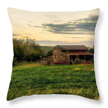 Sunset Over Dogwood Ridge Throw Pillow