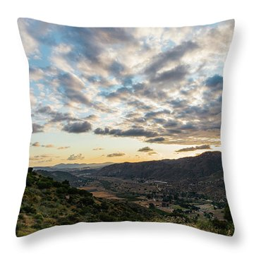 Sunset Over El Monte Valley Throw Pillow