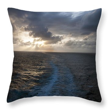 Sunset Over Fort Lauderdale Throw Pillow by Allen Carroll