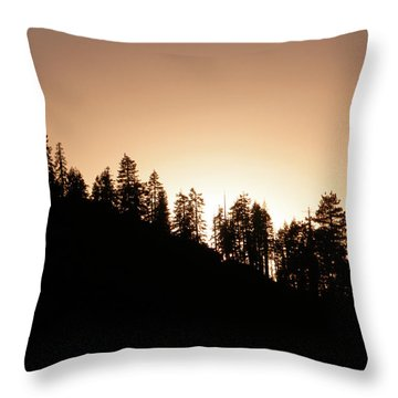 Sunset Over Glacier Point Throw Pillow