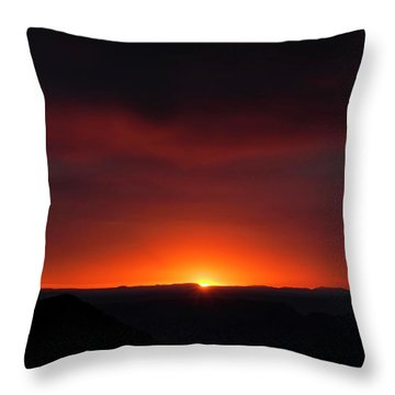 Sunset Over Grand Canyon Throw Pillow