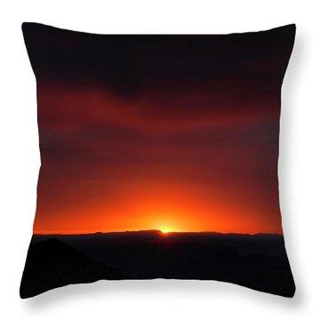 Sunset Over Grand Canyon Throw Pillow