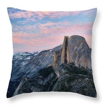 Sunset Over Half Dome Throw Pillow