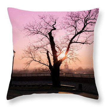 Throw Pillow featuring the photograph Sunset Over Krakow by Juli Scalzi