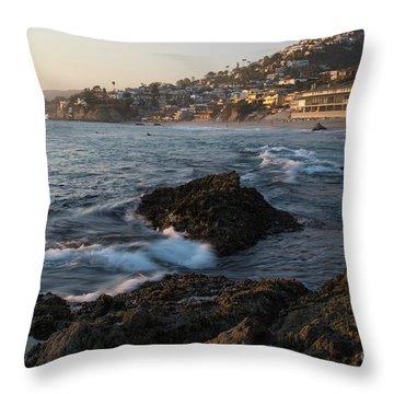 Sunset Over Laguna Beach   Throw Pillow