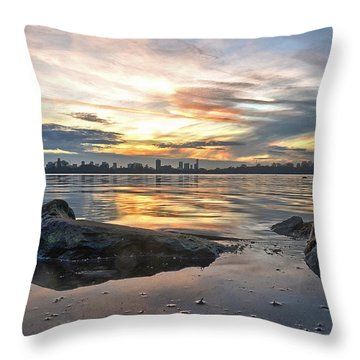 Sunset Over Lake Kralingen  Throw Pillow