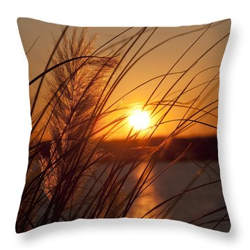 Sunset Over Lake Wylie Sc Throw Pillow by Dustin K Ryan