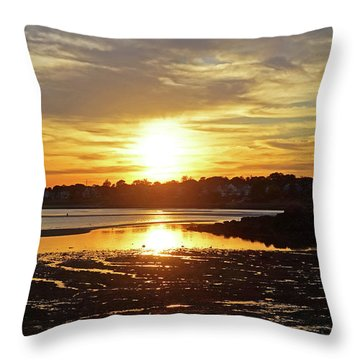 Sunset Over Lynch Park Beverly Ma Throw Pillow