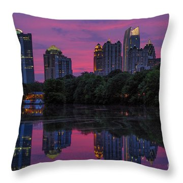 Sunset Over Midtown Throw Pillow