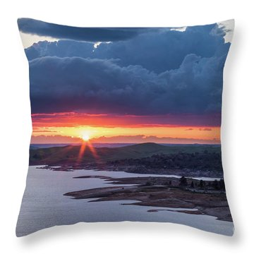 Sunset Over Millerton Lake  Throw Pillow