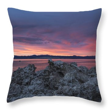 Throw Pillow featuring the photograph Sunset Over Mono Lake by Sandra Bronstein