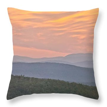 Sunset Over Mooselookmeguntic Throw Pillow by Peter J Sucy