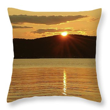 Sunset Over Piermont Throw Pillow