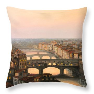 River Throw Pillows