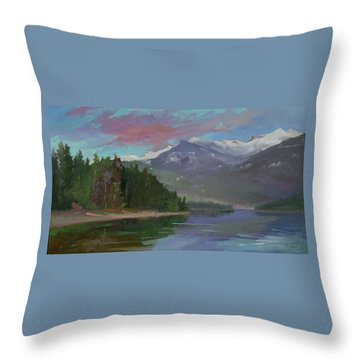 Sunset Over Priest Lake, Id Throw Pillow