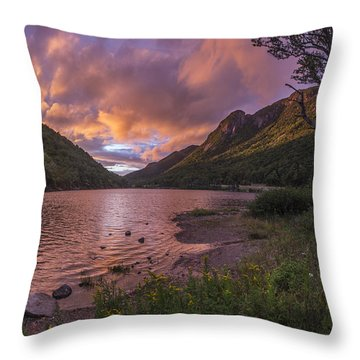 Sunset Over Profile Lake Throw Pillow