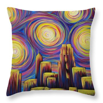 Sunset Over Raleigh Throw Pillow
