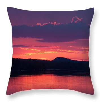 Sunset Over Sabao Throw Pillow
