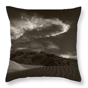Sunset Over Sand Dunes Death Valley Throw Pillow by Steve Gadomski