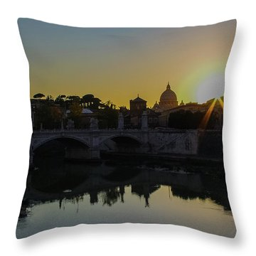 Sunset Over St Peters Throw Pillow