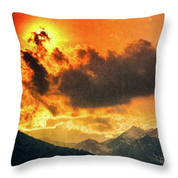 Throw Pillow featuring the photograph Sunset Over The Alps by Silvia Ganora
