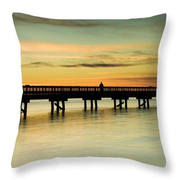 Sunset Over The Barnegat Bay Throw Pillow
