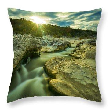 Sunset Over The Cascade Throw Pillow