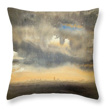Sunset Over The City Throw Pillow by Andrew King