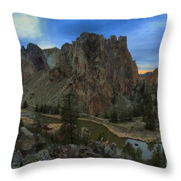Sunset Over The Crooked River Throw Pillow